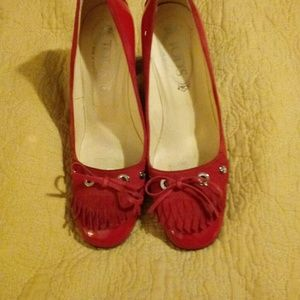 Tod's Red Patent Pumps